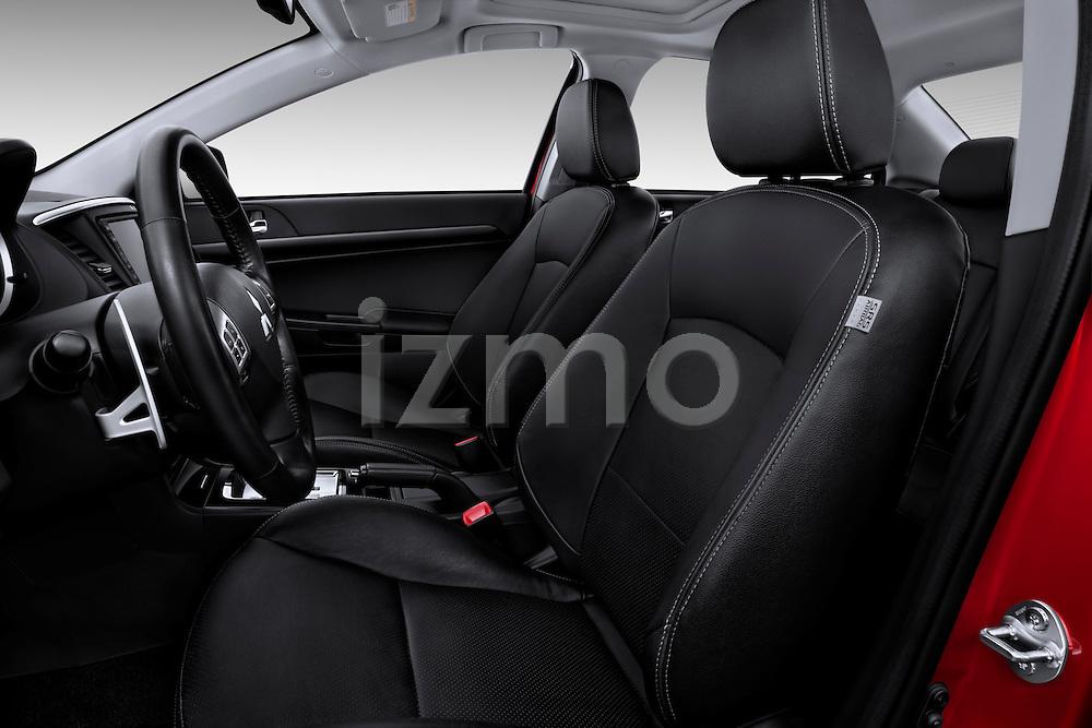 Front seats of a 2012 Mitsubishi Lancer GT Touring