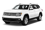 2019 Volkswagen Atlas SE 5 Door SUV angular front stock photos of front three quarter view