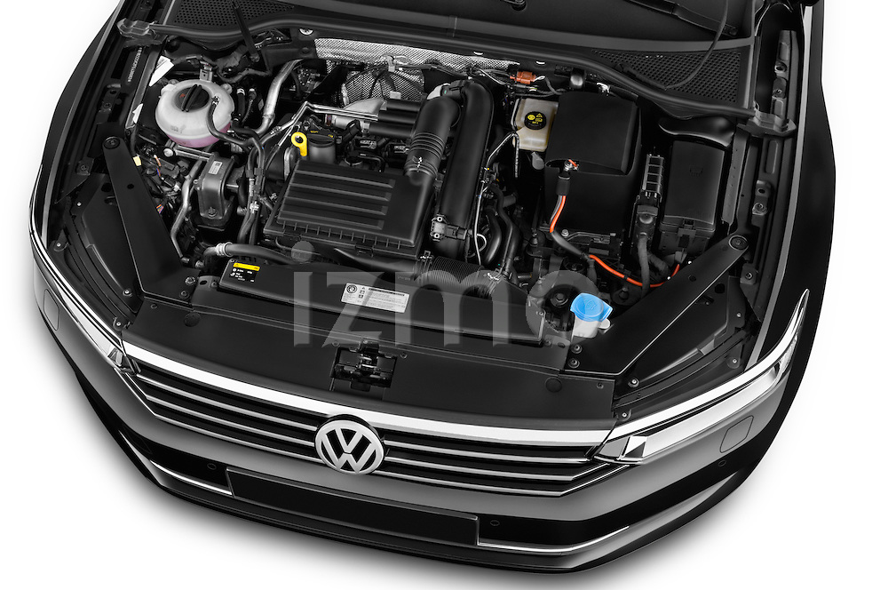 Car Stock 2015 Volkswagen Passat Comfort 4 Door Sedan Engine high angle detail view