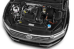 Car Stock 2015 Volkswagen Passat Comfort 4 Door Sedan Engine high angle detail view