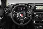 Car pictures of steering wheel view of a 2021 Fiat Tipo Life 5 Door Hatchback Steering Wheel