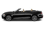 Car driver side profile view of a 2018 Audi A5 Cabriolet Premium Plus 2 Door Convertible