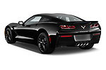 Car pictures of rear three quarter view of a 2019 Chevrolet Corvette Stingray 3LT 2 Door Coupe angular rear