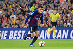 Philippe Coutinho of FC Barcelona runs with the ball during the La Liga 2018-19 match between FC Barcelona and Sevilla FC at Camp Nou Stadium on October 20 2018 in Barcelona, Spain. Photo by Vicens Gimenez / Power Sport Images