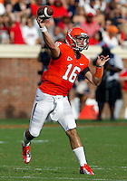 Virginia Cavaliers quarterback Michael Rocco (16) passes the ball during the second half of an NCAA football game against the Richmond Spiders Saturday September, 1, 2012 at Scott Stadium in Charlottesville, Va. Virginia defeated Richmond 43-19.