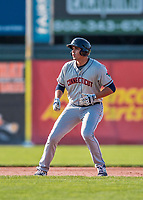 20 August 2017: Connecticut Tigers outfielder Reynaldo Rivera, a 2nd round draft pick for the Detroit Tigers, in action against the Vermont Lake Monsters at Centennial Field in Burlington, Vermont. The Lake Monsters rallied to edge out the Tigers 6-5 in 13 innings of NY Penn League action.  Mandatory Credit: Ed Wolfstein Photo *** RAW (NEF) Image File Available ***