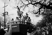 New Orleans, Louisiana.USA.February 19, 2006..Mardi Gras parades in uptown and downtown New Orleans.