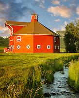 Triple Creek barn and stream. Joseph, Oregon