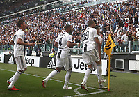 Calcio, Serie A: Juventus - Sassuolo, Turin, Allianz Stadium, September 16, 2018.<br /> Juventus' Cristiano Ronaldo celebrates after scoring his first goal with his teammates during the Italian Serie A football match between Juventus and  Sassuolo at Torino's Allianz stadium, September 16, 2018.<br /> UPDATE IMAGES PRESS/Isabella Bonotto