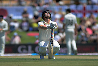 England's Joe Denley stretches during day one of the international cricket 1st test match between NZ Black Caps and England at Bay Oval in Mount Maunganui, New Zealand on Thursday, 21 November 2019. Photo: Dave Lintott / lintottphoto.co.nz