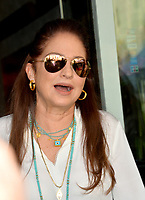 LOS ANGELES, CA. October 10, 2019: Gloria Estefan at the Hollywood Walk of Fame Star Ceremony honoring Tommy Mottola.<br /> Pictures: Paul Smith/Featureflash