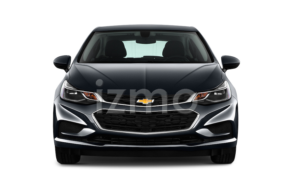 Car photography straight front view of a 2017 Chevrolet Cruze LT 5 Door Hatchback Front View