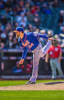 21 April 2013: New York Mets pitcher Brandon Lyon on the mound against the Washington Nationals at Citi Field in Flushing, NY. The Mets shut out the visiting Nationals 2-0, taking the rubber match of their 3-game weekend series. Mandatory Credit: Ed Wolfstein Photo *** RAW (NEF) Image File Available ***