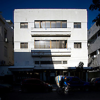 A Bauhaus style building at 55 Rehov Nahalat Binyamin Street. Tel Aviv is known as the White City in reference to its collection of 4,000 Bauhaus style buildings, the largest number in any city in the world. In 2003 the Bauhaus neighbourhoods of Tel Aviv were placed on the UNESCO World Heritage List. .