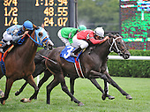 Classical Fashion wins the eighth race at Saratoga on Aug. 26, 2009 for jockey Mike Luzzi and trainer Gary Contessa.