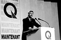 September 11,1985 File Photo - Pierre-Marc Johnson<br /> take part in a debate between all candidates in the Parti Quebecois leadership race which was eventually won by Pierre-Marc Johnson