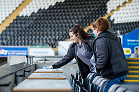 Cleaner <br /> Re: Behind the Scenes Photographs at the Liberty Stadium ahead of and during the Premier League match between Swansea City and Bournemouth at the Liberty Stadium, Swansea, Wales, UK. Saturday 25 November 2017
