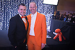 """© Joel Goodman - 07973 332324 . 05/03/2015 .  Midland Hotel , Manchester , UK . Rich Dibbins and David Gilroy of """" conscious """" brand , design and marketing for law firms . The Manchester Legal Awards 2015 . Photo credit : Joel Goodman"""