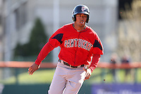 April 14, 2010:  Angel Sanchez of the Pawtucket Red Sox during a game at Coca-Cola Field in Buffalo, New York.  Pawtucket is the Triple-A International League affiliate of the Boston Red Sox.  Photo By Mike Janes/Four Seam Images