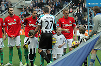 Saturday 17 November 2012<br /> Pictured: Michu, Ashley Williams and Garry Monk of Swansea and Steven Taylor of Newcastle<br /> Re: Barclay's Premier League, Newcastle United v Swansea City FC at St James' Park, Newcastle Upon Tyne, UK.