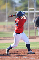 Andrew Johnson (56), from Kennewick, Washington, while playing for the Red Sox during the Under Armour Baseball Factory Recruiting Classic at Gene Autry Park on December 30, 2017 in Mesa, Arizona. (Zachary Lucy/Four Seam Images)