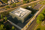 Aerial View of the John E. Jaqua Center, University of Oregon, Eugene