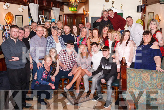 FAB FORTY: Eileen O'Connor (seated centre) formerly from Tournafulla now living in Abbeyfeale celebrated her 40th birthday last Friday night at the Ploughman Bar, Abbeyfeale with family and friends.