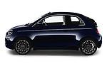 Driver side profile view of a 2021 Fiat 500C La Prima 2 Door Convertible