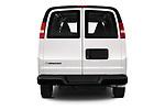 Straight rear view of 2020 Chevrolet Express-Cargo WT 4 Door Cargo Van Rear View  stock images