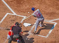 27 July 2013: New York Mets infielder Daniel Murphy in action against the Washington Nationals at Nationals Park in Washington, DC. The Nationals defeated the Mets 4-1. Mandatory Credit: Ed Wolfstein Photo *** RAW (NEF) Image File Available ***