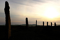 Orkney Islands, Mainland, the Neolithic standing stones of the Ring of Brodgar at sunset<br /> Scotland May 8th - 19th. Trip across Scotland<br /> Foto Samantha Zucchi Insidefoto