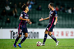 FC Kitchee Midfielder Fernando Augusto (r) reacts with FC Kitchee Forward Kwan Yee Lo (l) during the AFC Champions League 2017 Preliminary Stage match between  Kitchee SC (HKG) vs Hanoi FC (VIE) at the Hong Kong Stadium on 25 January 2017 in Hong Kong, Hong Kong. Photo by Marcio Rodrigo Machado/Power Sport Images