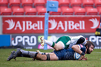 21st March 2021; AJ Bell Stadium, Salford, Lancashire, England; English Premiership Rugby, Sale Sharks versus London Irish; Lood de Jager of Sale Sharks scores a try