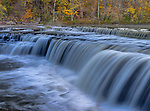 Owen County, Indiana: Cateract Falls State Recreation Area, Cateract falls on Mill Cree, autumn
