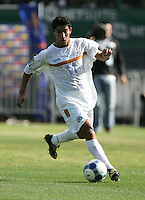 Felix Zeledon dribbles the ball. Mexico defeated Nicaragua 2-0 during the First Round of the 2009 CONCACAF Gold Cup at the Oakland, Coliseum in Oakland, California on July 5, 2009.
