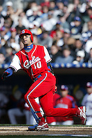 Yulieski Gourriel of the Cuban national team during game against the Dominican Republic team during the World Baseball Championships at Petco Park in San Diego,California on March 18, 2006. Photo by Larry Goren/Four Seam Images