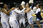The Centennial Bulldogs celebrate a 74-65 overtime win over Liberty for the NIAA state basketball title in Reno, Nev., on Friday, Feb. 23, 2018. Cathleen Allison/Las Vegas Review-Journal