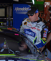 Apr 28, 2006; Talladega, AL, USA; Nascar Nextel Cup driver Jimmie Johnson of the (48) Lowes Chevrolet Monte Carlo during practice for the Aarons 499 at Talladega Superspeedway. Mandatory Credit: Mark J. Rebilas-US PRESSWIRE Copyright © 2006 Mark J. Rebilas..