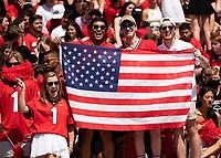 ATHENS, GA - SEPTEMBER 11: Georgia fans honor America on 9/11 during a game between University of Alabama Birmingham Blazers and University of Georgia Bulldogs at Sanford Stadium on September 11, 2021 in Athens, Georgia.