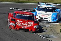 #99 Gainsco/Bob Stallings Racing Chevrolet/Riley of Jon Fogarty & Alex Gurney and #01 Chip Ganassi Racing with Felix Sabates BMW/Riley of Scott Pruett & Memo Rojas