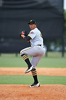 GCL Pirates relief pitcher Brian Sousa (41) delivers a pitch during a game against the GCL Tigers West on July 17, 2017 at TigerTown in Lakeland, Florida.  GCL Tigers West defeated the GCL Pirates 7-4.  (Mike Janes/Four Seam Images)