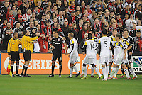 Washington D.C. - March 8, 2014: MLS Referee Andres Pfefferkorn.  The Columbus Crew defeated D.C. United 3-0 during the opening game of the 2014 season at RFK Stadium.