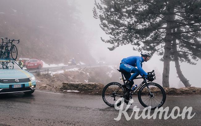 Fabio Sabatini (ITA/Quick-Step Floors)<br /> <br /> 76th Paris-Nice 2018<br /> Stage 7: Nice > Valdeblore La Colmiane (175km)