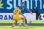 20.02.2021, xtgx, Fussball 3. Liga, FC Hansa Rostock - SV Waldhof Mannheim, v.l. Luca Horn (Hansa Rostock, 27), Philip Tuerpitz (Rostock)<br /> <br /> (DFL/DFB REGULATIONS PROHIBIT ANY USE OF PHOTOGRAPHS as IMAGE SEQUENCES and/or QUASI-VIDEO)<br /> <br /> Foto © PIX-Sportfotos *** Foto ist honorarpflichtig! *** Auf Anfrage in hoeherer Qualitaet/Aufloesung. Belegexemplar erbeten. Veroeffentlichung ausschliesslich fuer journalistisch-publizistische Zwecke. For editorial use only.