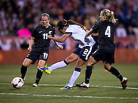 Sydney Leroux, Kirsty Yallop, Katie Hoyle. The USWNT tied New Zealand, 1-1, at an international friendly at Crew Stadium in Columbus, OH.