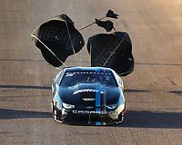 Feb 24, 2018; Chandler, AZ, USA; NHRA pro stock driver Tanner Gray during qualifying for the Arizona Nationals at Wild Horse Pass Motorsports Park. Mandatory Credit: Mark J. Rebilas-USA TODAY Sports