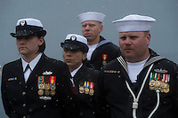 130504-N-DR144-610 ANCHORAGE, Alaska (May 4, 2013)-  Crew members wait to bring the ship to life during the commissioning of San Antonio-class amphibious transport dock ship USS Anchorage (LPD 23) at the Port of Anchorage. More than 4,000 people gathered to witness the ship's commissioning in its namesake city of Anchorage, Alaska. Anchorage, the seventh San Antonio-class LPD, is the second ship to be named for the city and the first U.S. Navy ship to be commissioned in Alaska. (U.S. Navy photo by Mass Communication Specialist 1st Class James R. Evans / RELEASED)