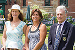 Pam Shriver, Gigi Fernandez and Vic Seixas at  the 2015 Induction Ceremony at the International Tennis Hall of Fame, Newport, RI USA.  The ceremony took place on July 18, 2015