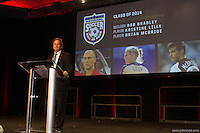 San Francisco, CA - Saturday Feb. 14, 2015: Anson Dorrance at the 2014 US Soccer Hall of Fame Induction ceremony.