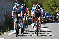 5th September 2020, Grand Colombier, France;  HERMANS Ben (BEL) of ISRAEL START - UP NATION and KRAGH ANDERSEN Soren (DEN) of TEAM SUNWEB during stage 8 of the 107th edition of the 2020 Tour de France cycling race, a stage of 140 kms with start in Cazeres-sur-Garonne and finish in Loudenvielle